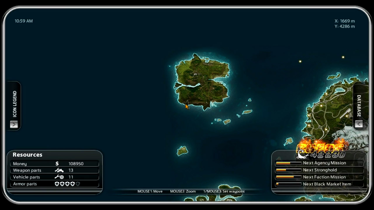 Just Cause  Lost Island Location Map