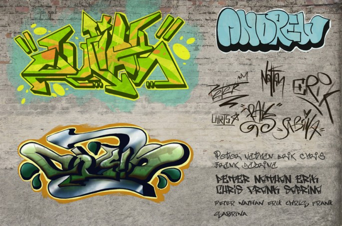 Write my name in graffiti for facebook