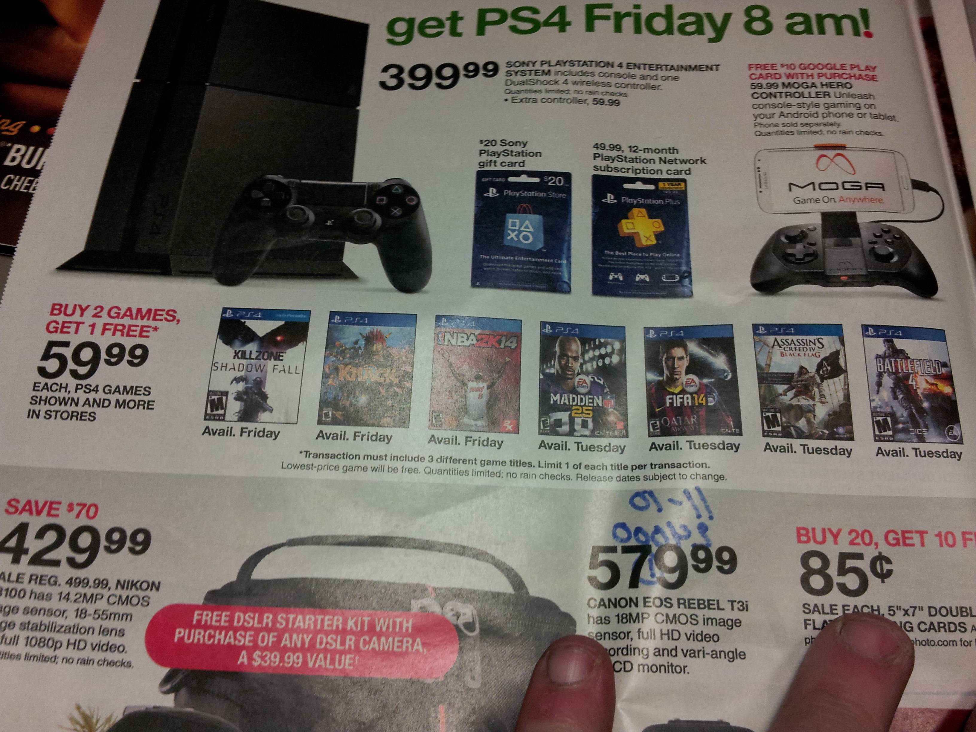 ps4 launch games to be buy 2 get 1 free at target on november