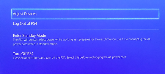 PS4 Hold PS button