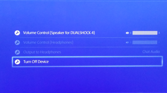 PS4 Turn off Device