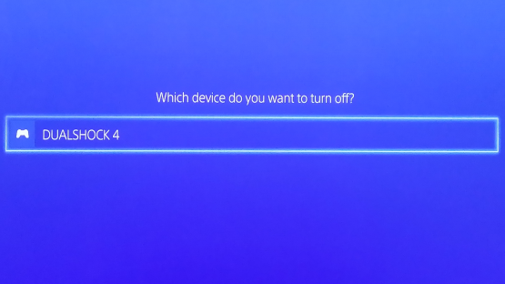 Turn off DualShock4