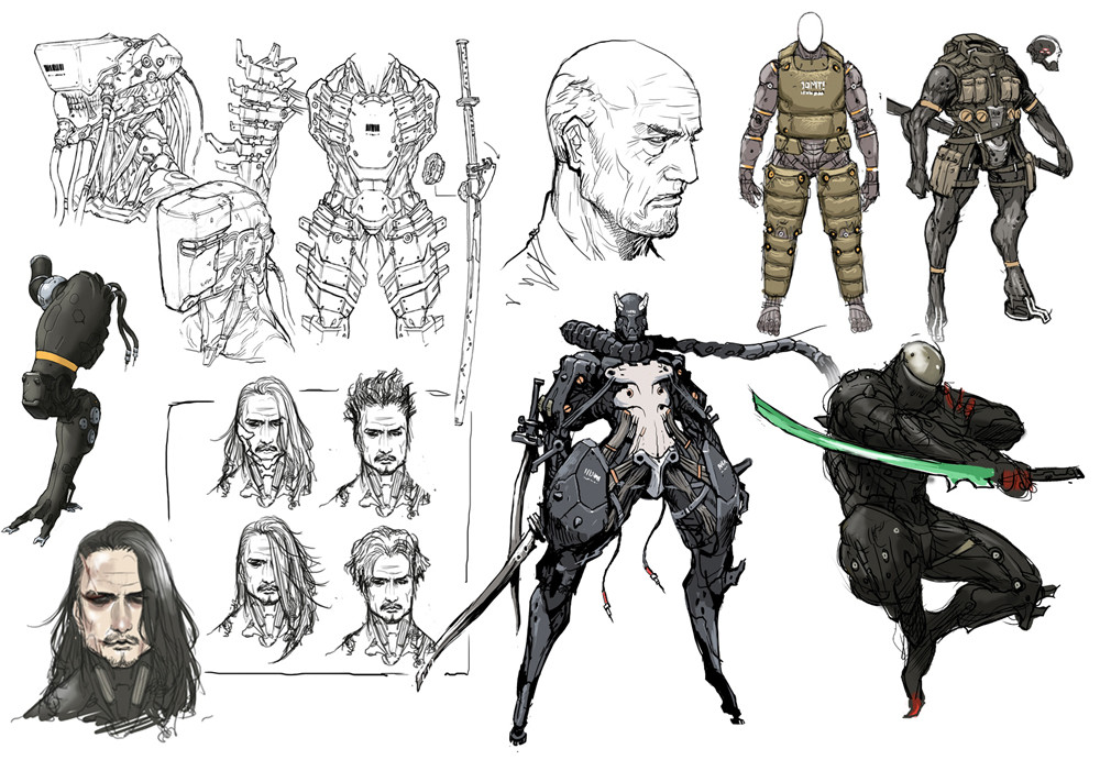 Character Concept Design Process : Showcase metal gear solid fan art and concept