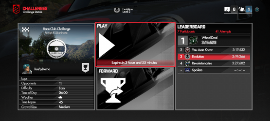 DriveClub-challenges
