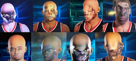 NBA 2K15 Face Monsters