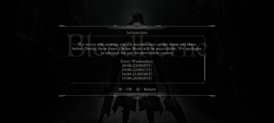 bloodborneservermaintenance