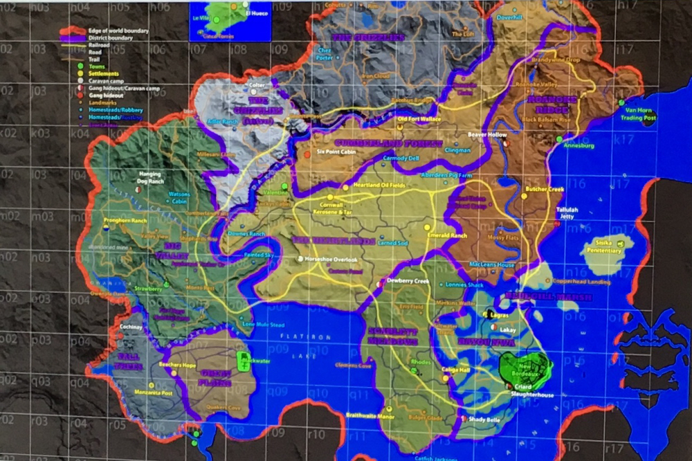 Red Dead Redemption 2 -Run Across the Map - How Big is the Map