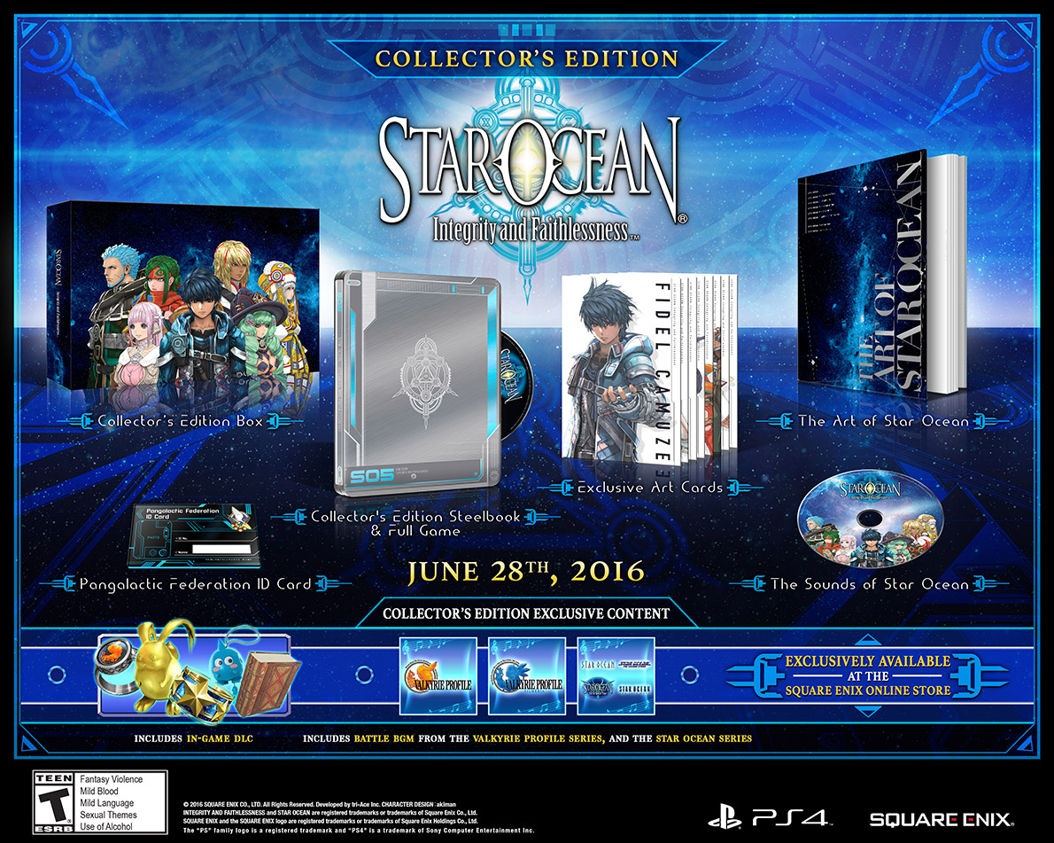 New Star Ocean launches July 1st on PS4