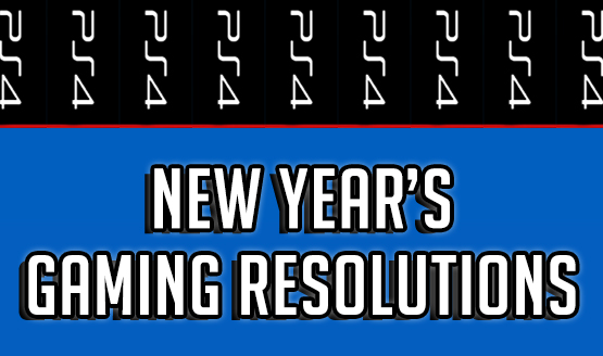 New Year's Gaming Resolutions With Text