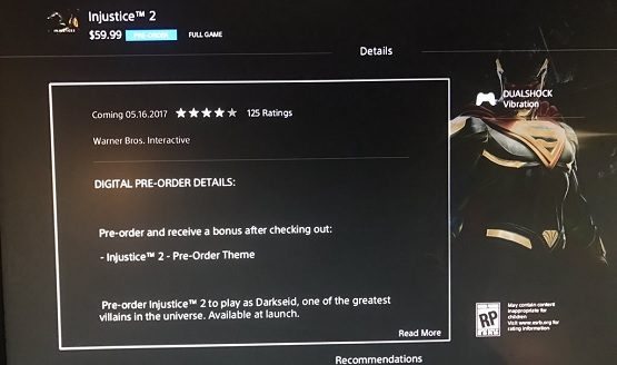 injustice 2 preorder