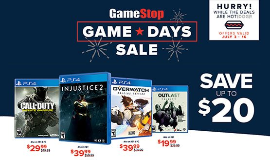 GameStop Holding Fourth of July Game Day Sale