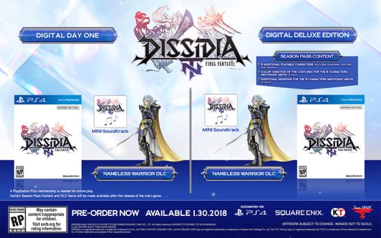 'Dissidia Final Fantasy NT' (PS4) Gets Release Date, Special Editions
