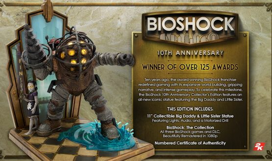 BioShock's 10th Anniversary Collector's Edition includes a Big Daddy statue