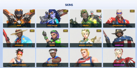Overwatch Summer Games skins