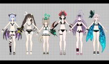 Death end request delayed swimsuit costumes