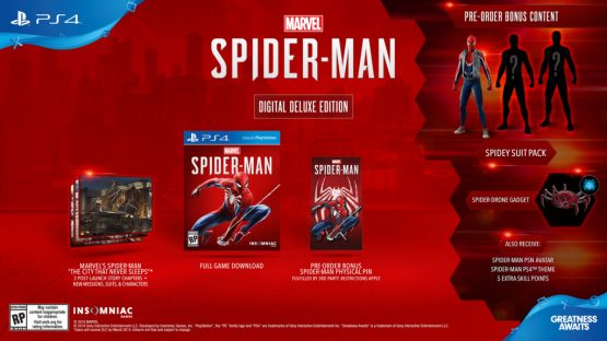 Spider-man PS4 digital deluxe Edition