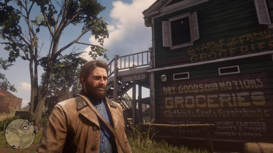 Red Dead Redemption 's Arthur moseys along slowly.