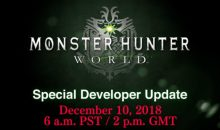 monster hunter world developer update