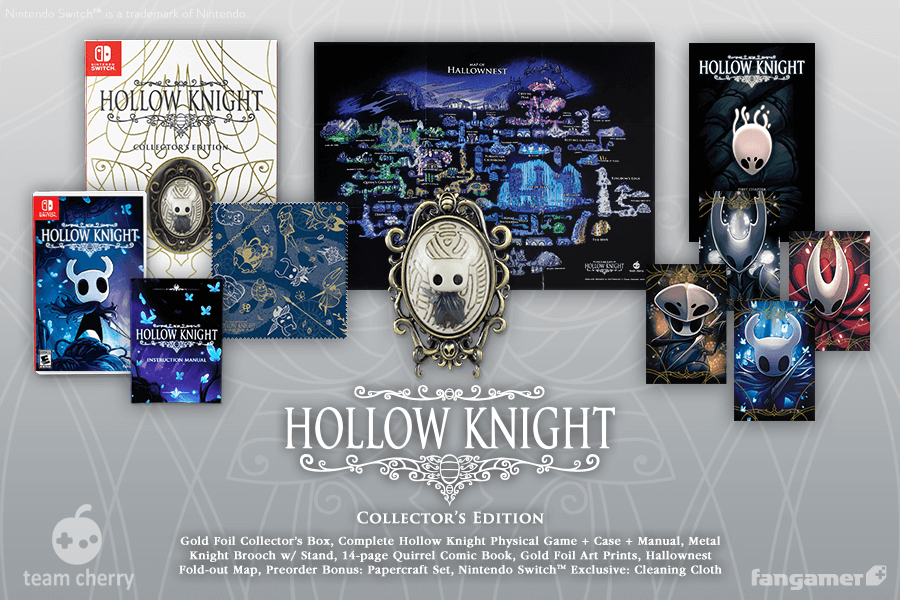 Hollow Knight Collectors Edition Ensnares Comic Book, Brooch