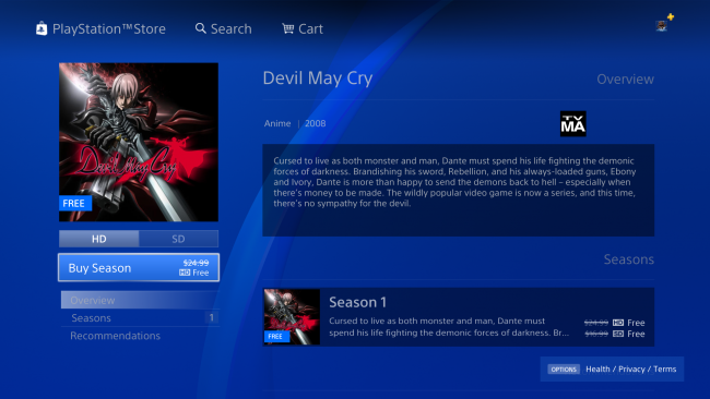 How to Get the Devil May Cry Anime Free on the PSN