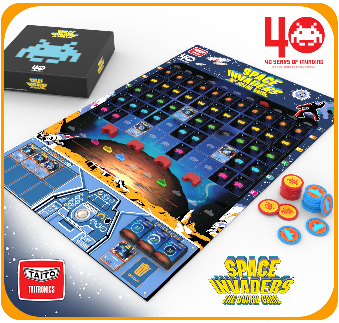 Space Invaders Board Game Kickstarter