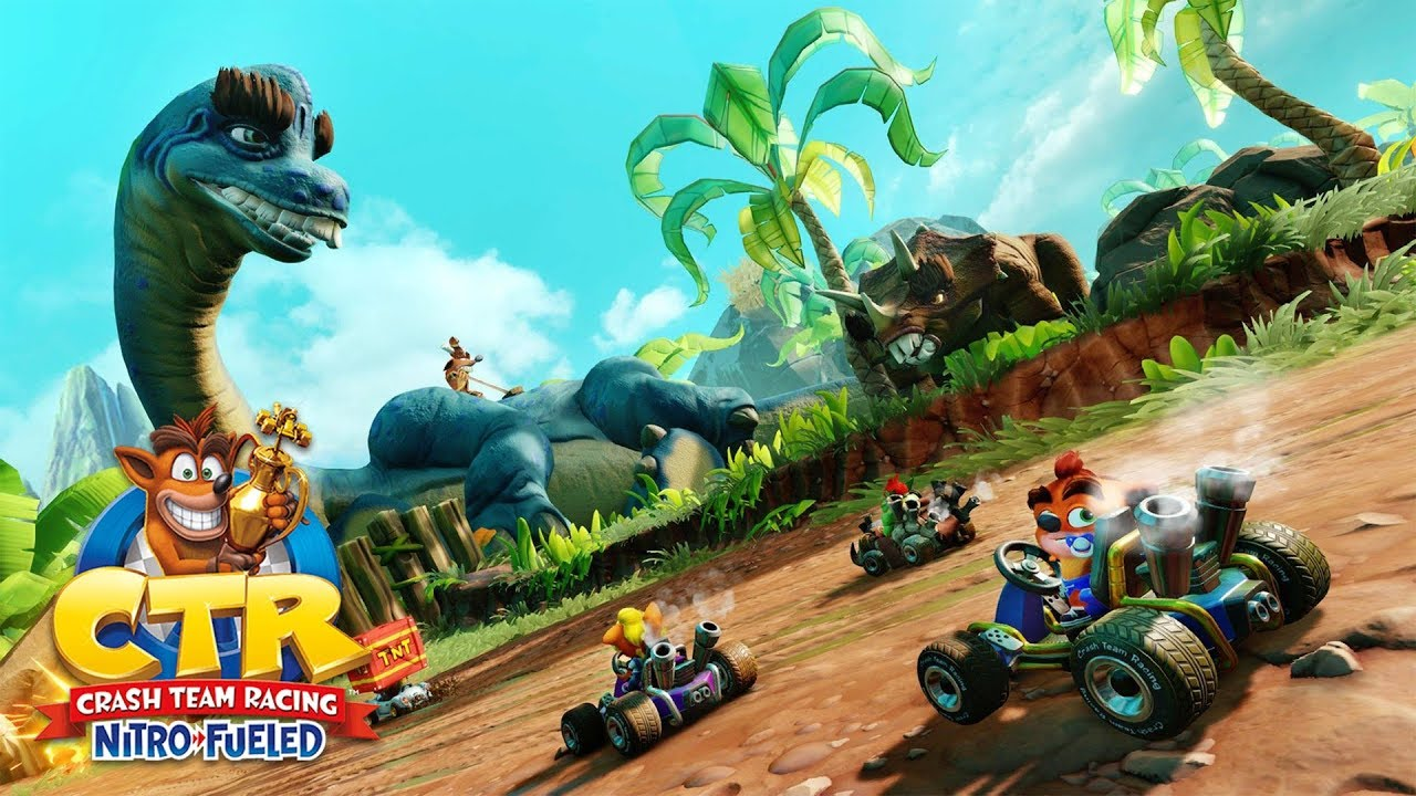 Crash Team Racing: Nitro Fueled's Second Grand Prix Adds Dinosaurs & Microtransactions
