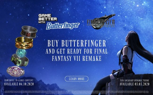 Image result for final fantasy vii remake butterfinger