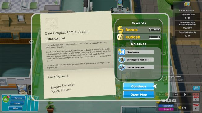 Two Point Hospital Review PS4