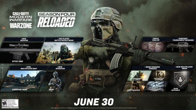 Call of duty warzone 200 player lobbies season 4 reloaded
