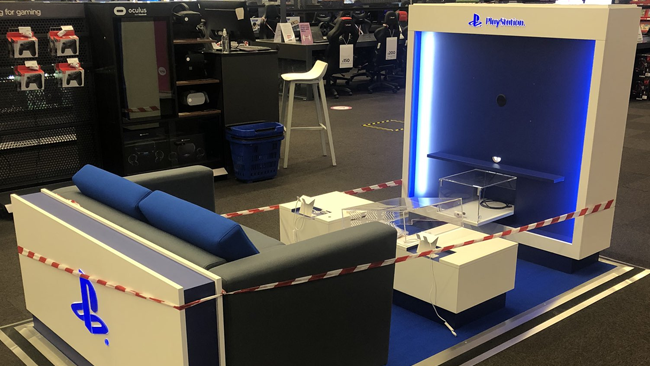 PS5 kiosks preorders playstation 5 themed areas retail stores