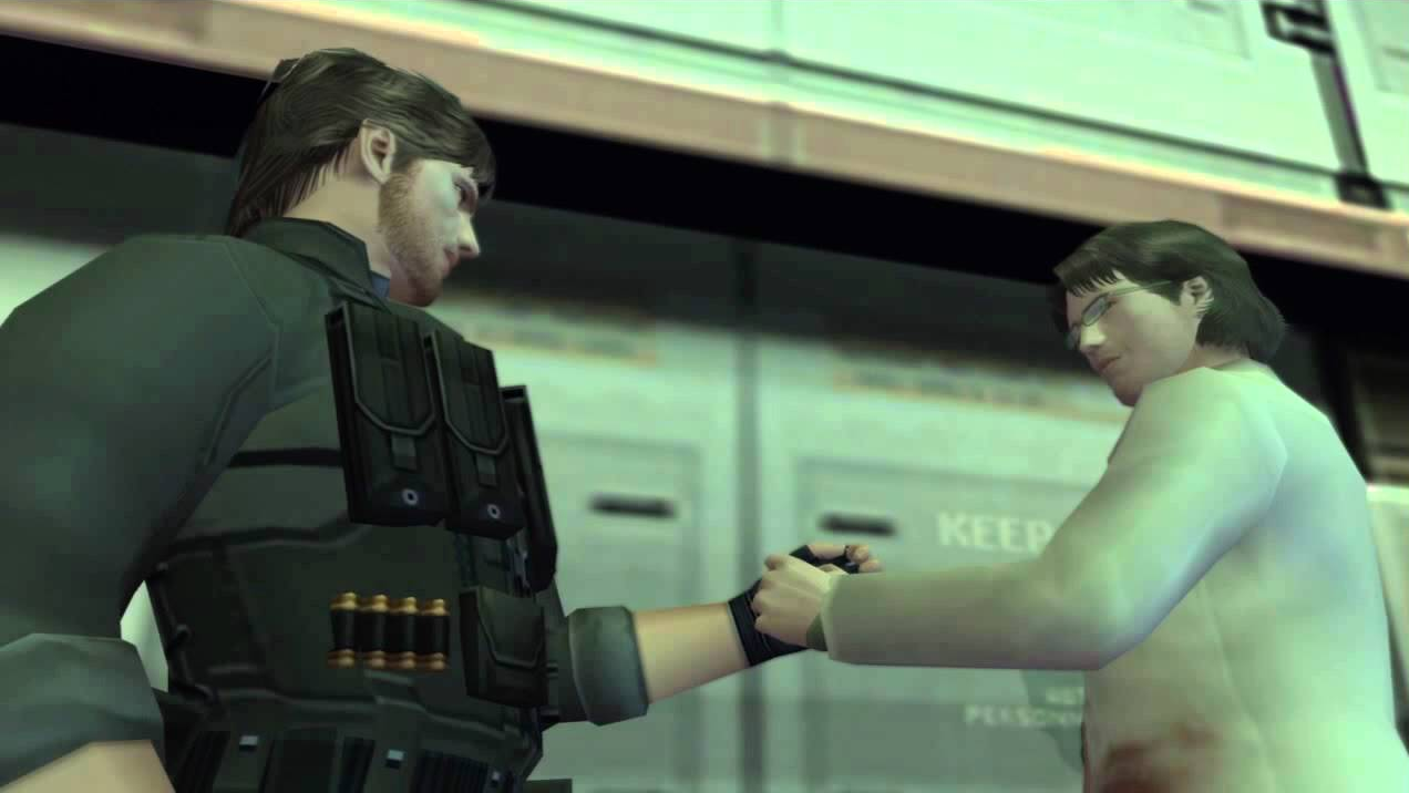 Solid Snake and Otacon