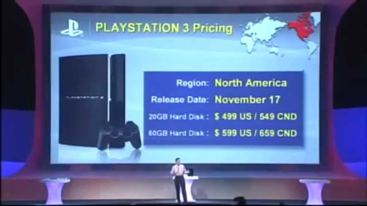PS3, Starting at $599