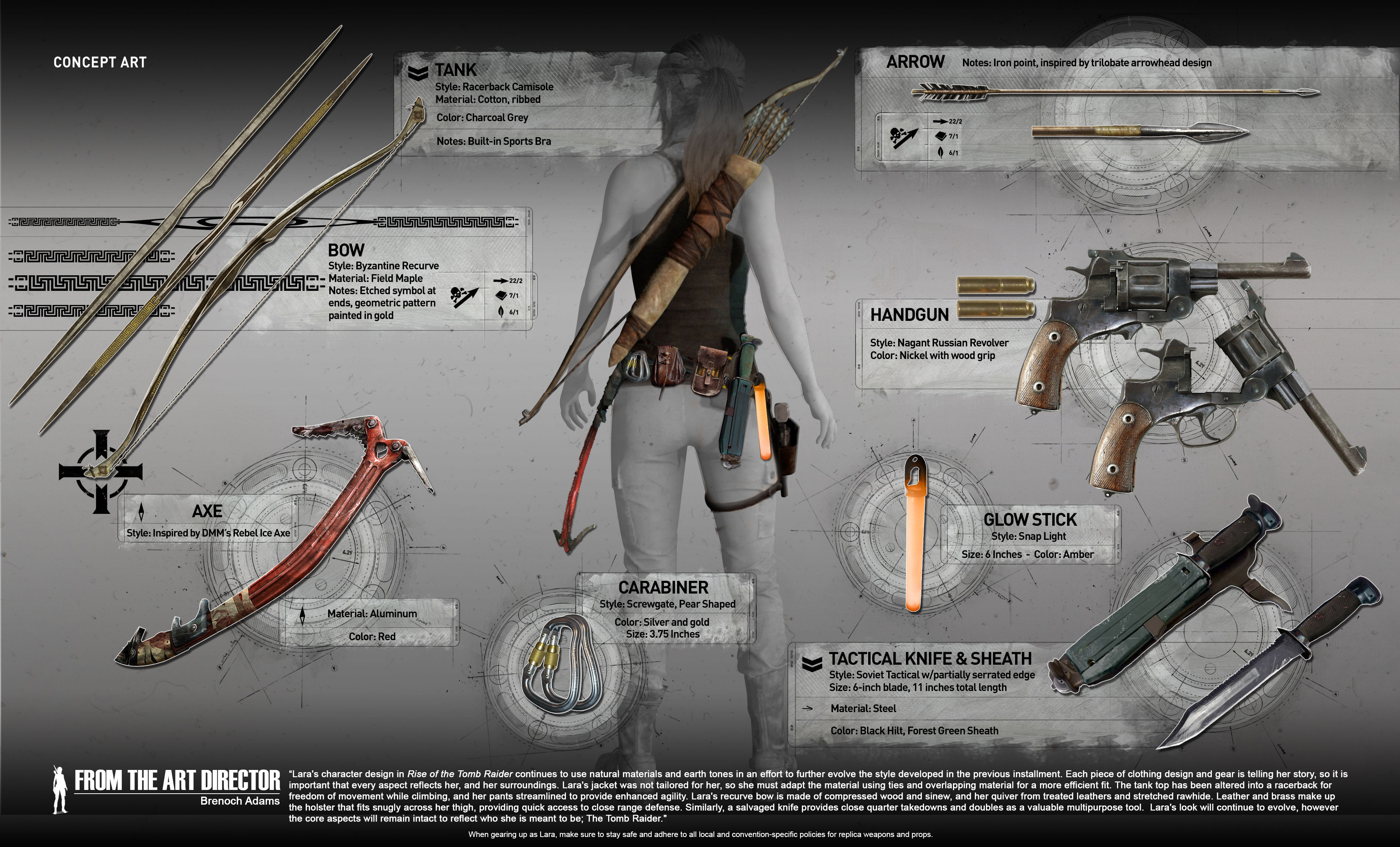 Lara Croft Will Have a Variety of Weapons and Gear