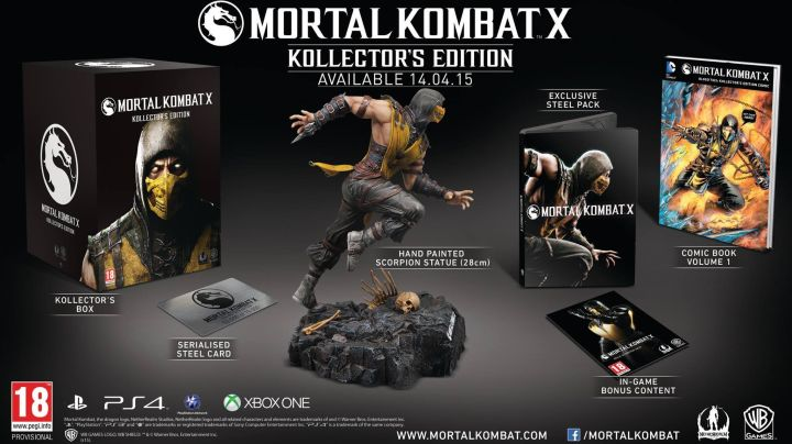 Here are the Mortal Kombat Kollector's Editions