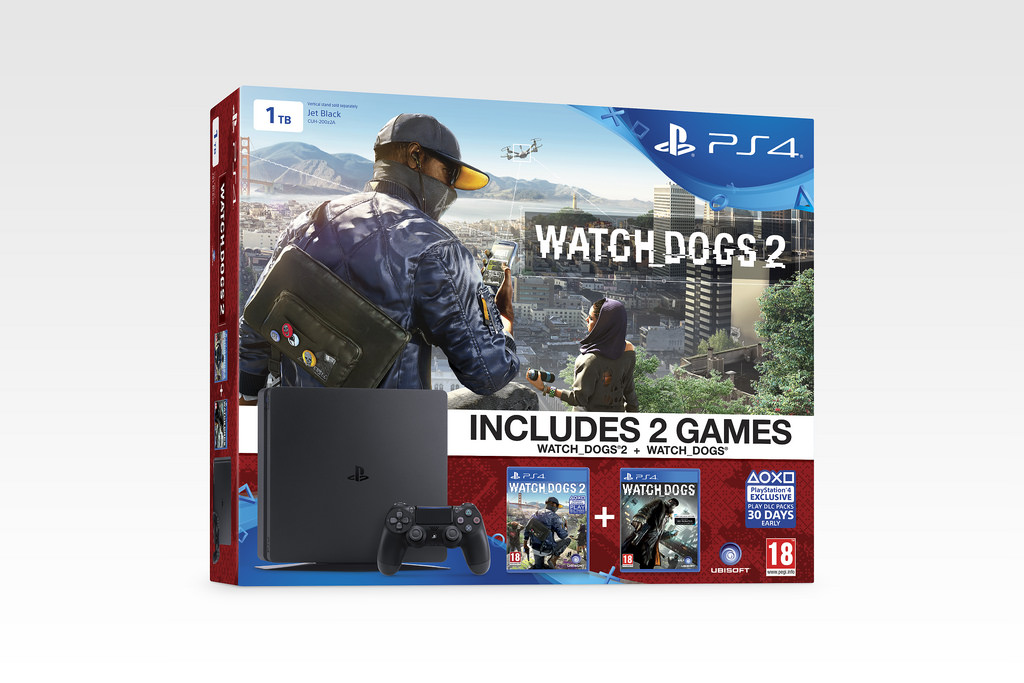 Watch Dogs 2 PS4 Slim Bundle