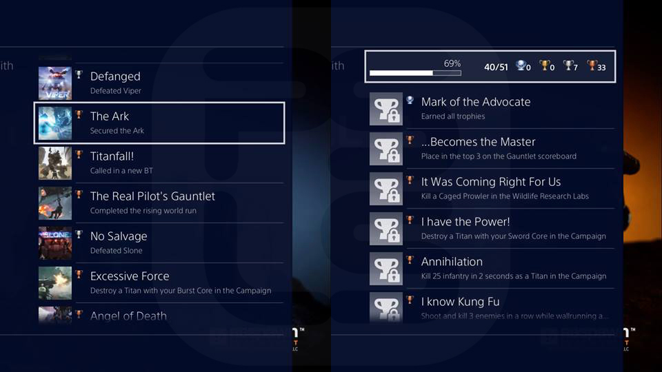 how to delete games off trophy list ps4