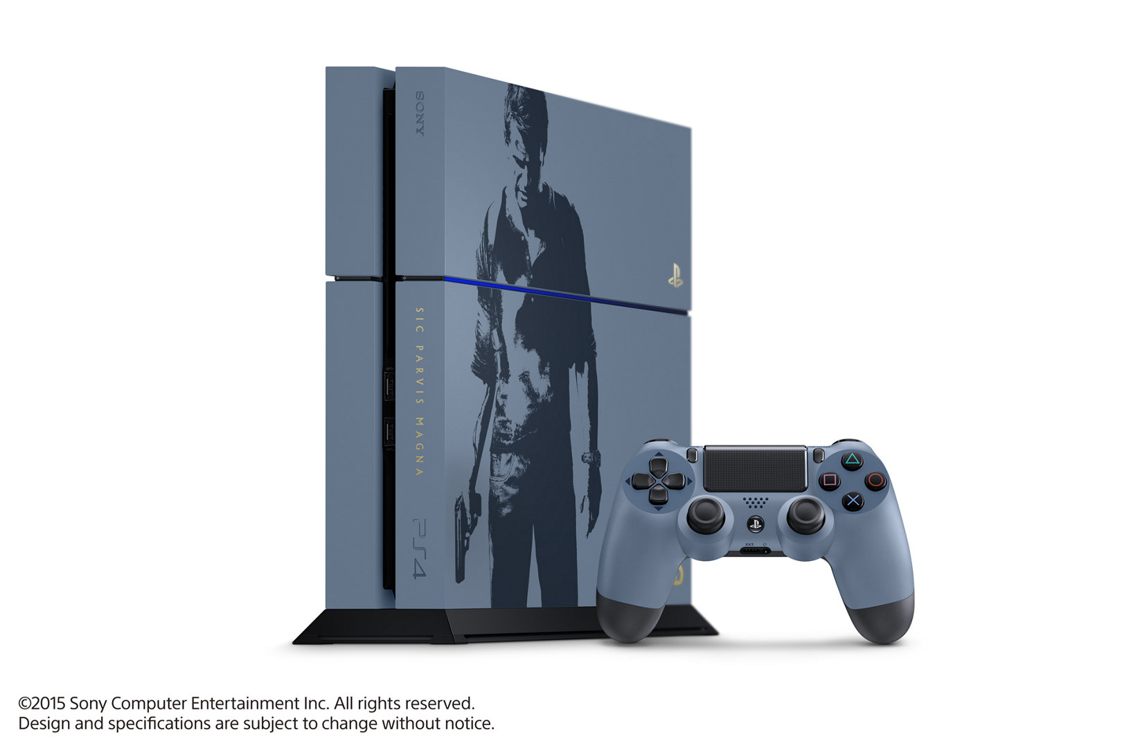 Uncharted 4 Gray Blue PS4