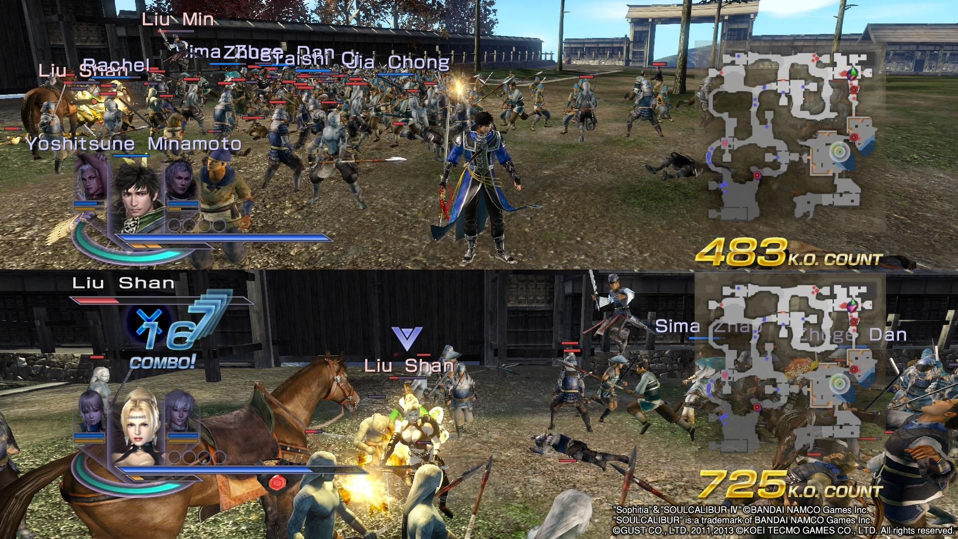 warriors-orochi-3-ultimate-many-enemies-and-rachel-showing-off