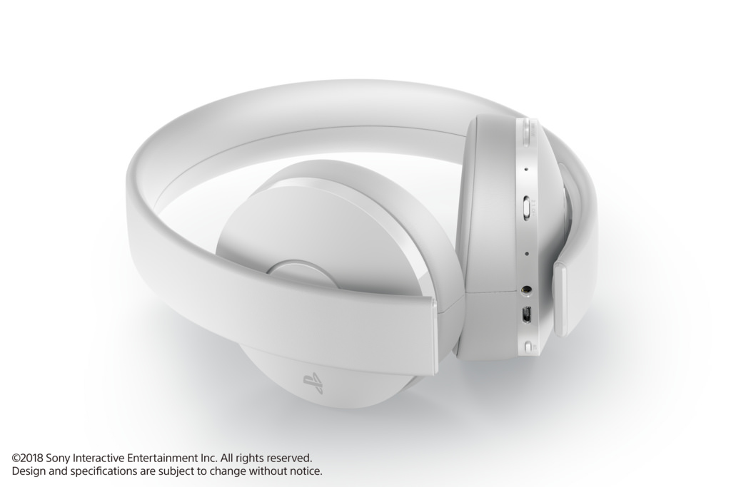 White Playstation Gold Wireless Headset