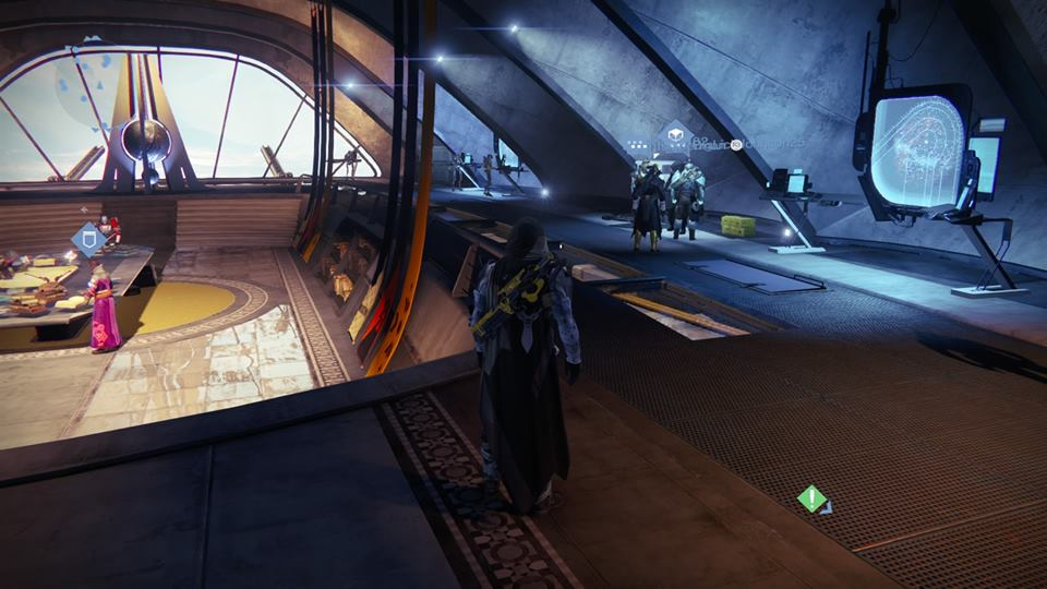 Xur – Agent of the Nine can be found relaxing with the Vanguards.