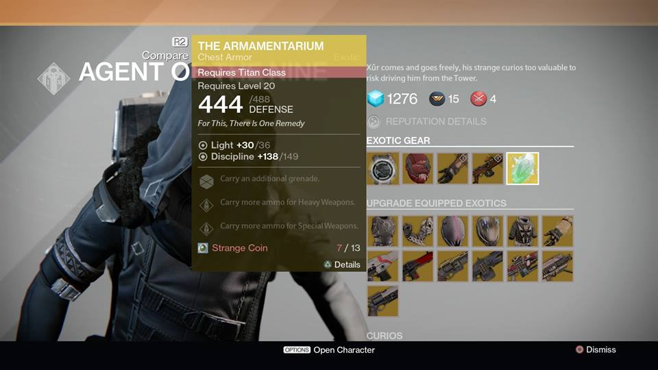 Destiny Xur Location and Items for December 26, 2014 Listed, Post ...