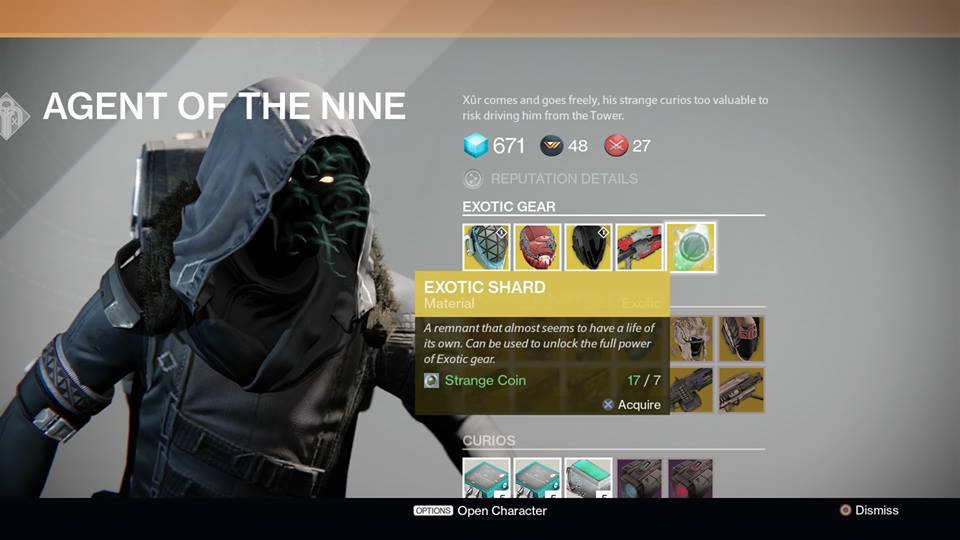 Destiny xur location and items for january 16 2015 listed peeking