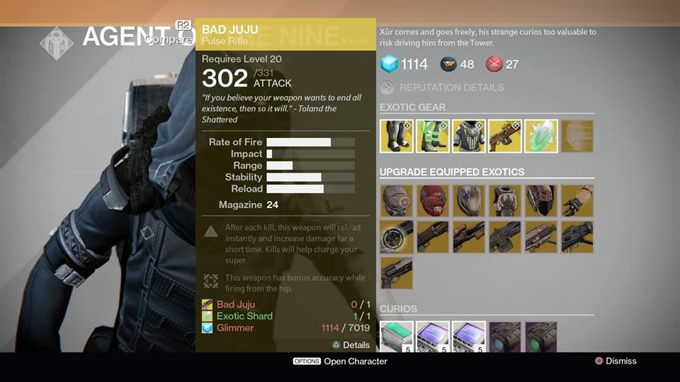 destiny xur location and items for january 23 2015. Black Bedroom Furniture Sets. Home Design Ideas